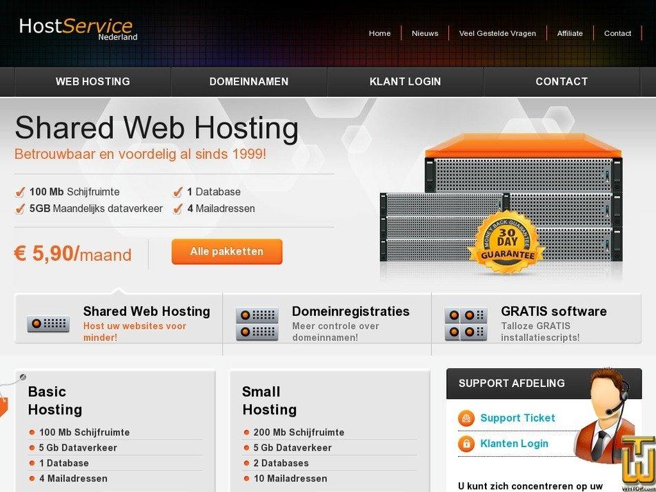 hostservice.nl Screenshot