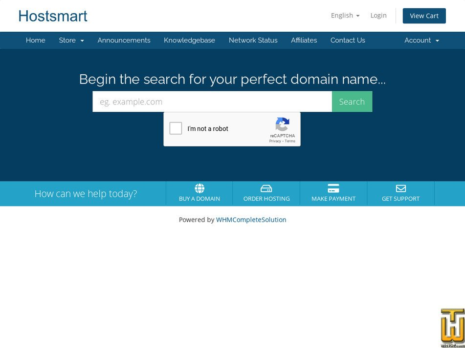 hostsmart.com.au Screenshot
