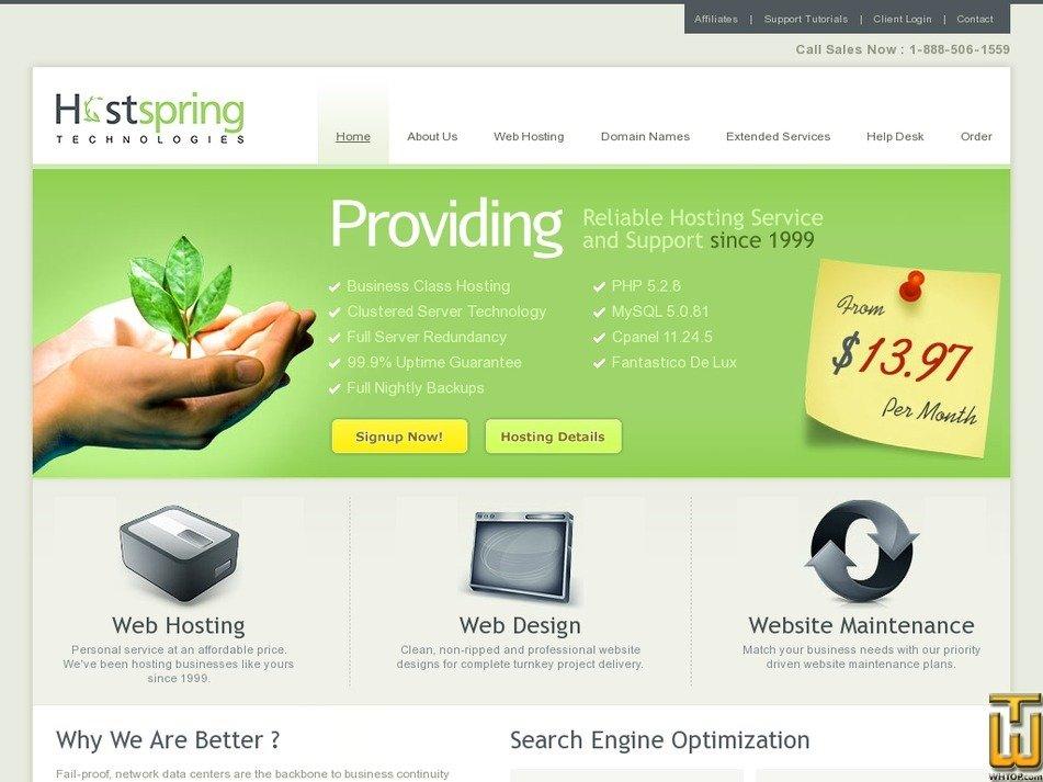 hostspring.com Screenshot