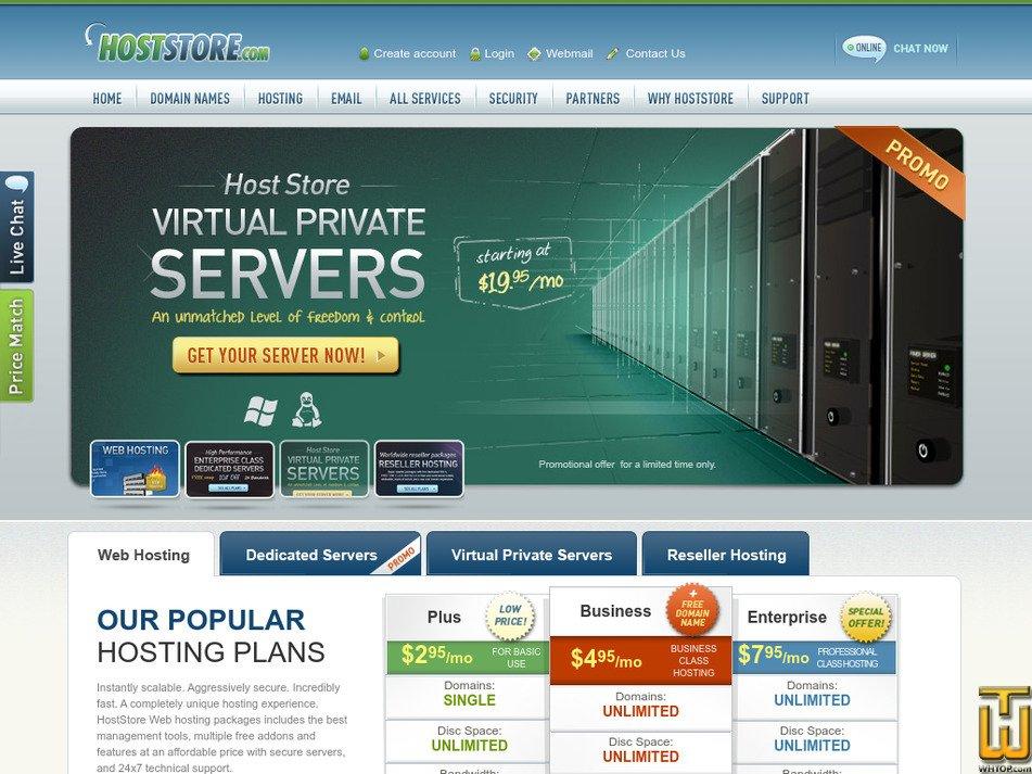 hoststore.com Screenshot