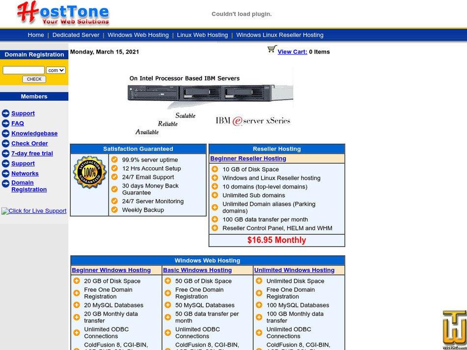 hosttone.com Screenshot