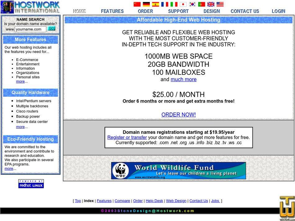 hostwork.com Screenshot