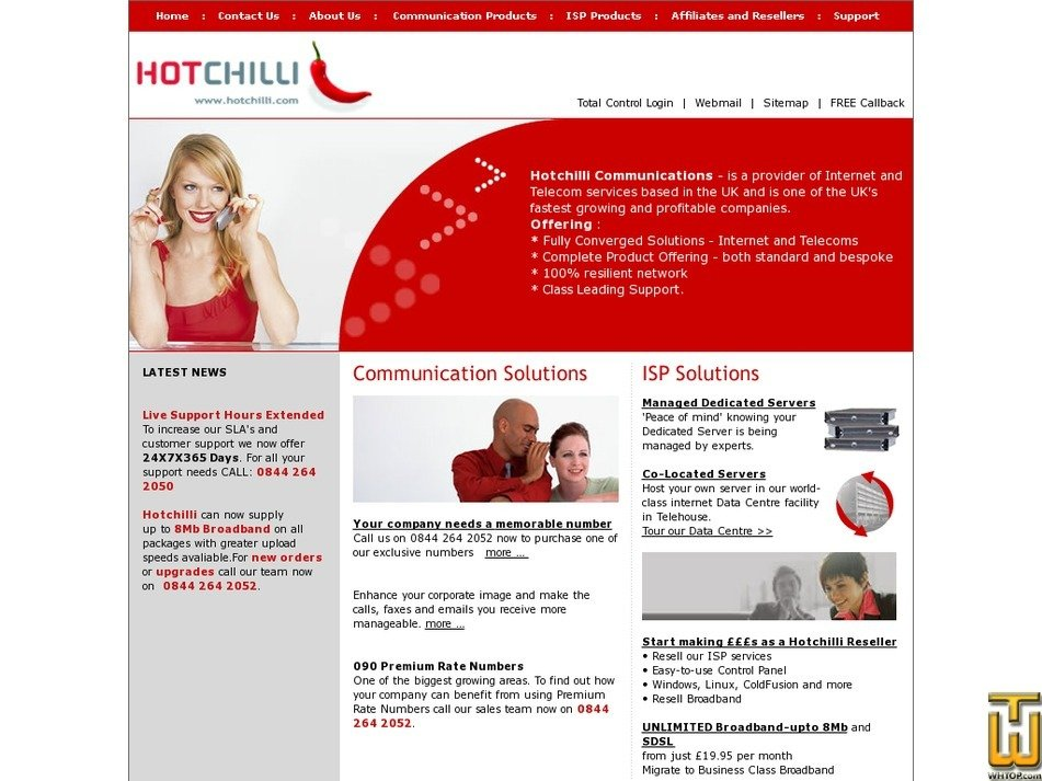 hotchilli.com Screenshot