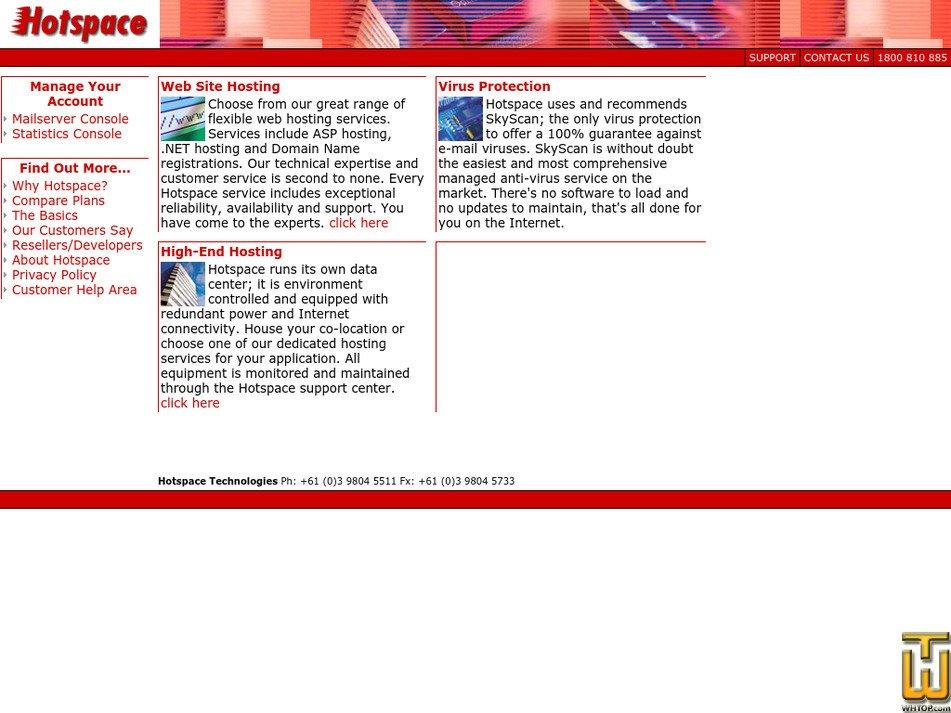 hotspace.net.au Screenshot