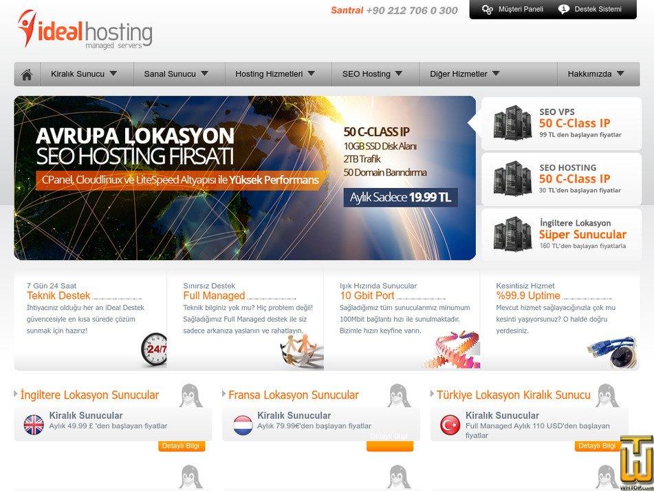 idealhosting.net.tr Screenshot