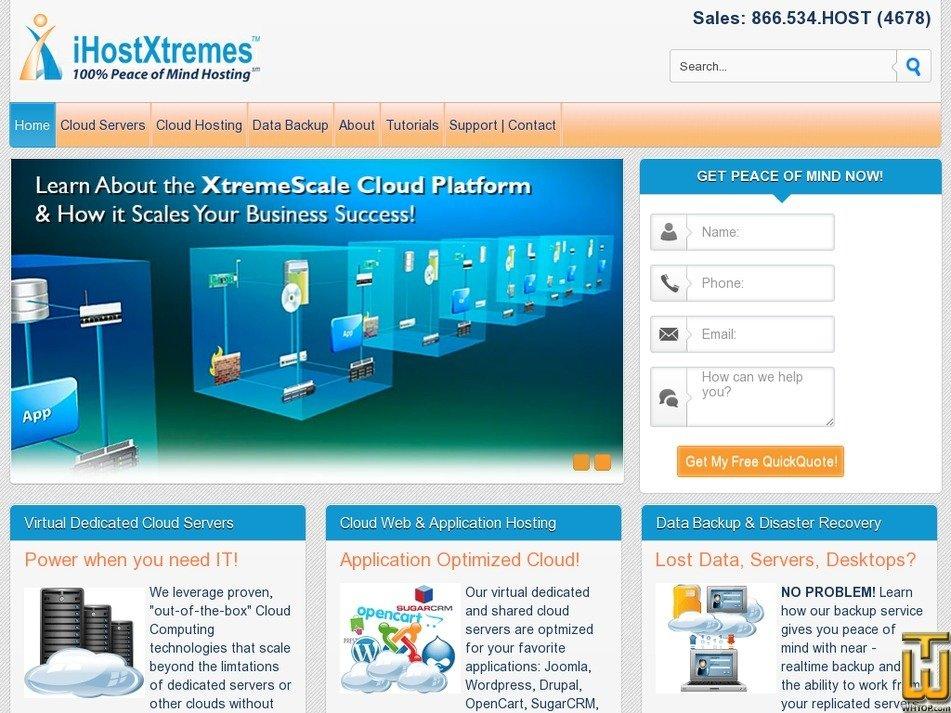 ihostxtremes.com Screenshot