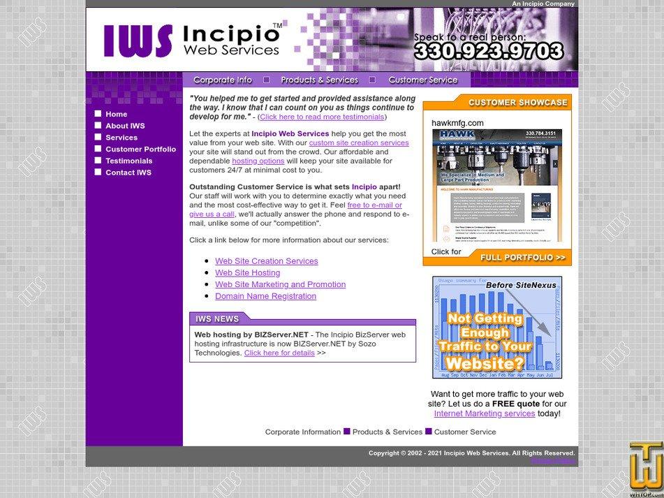 incipio.ws Screenshot