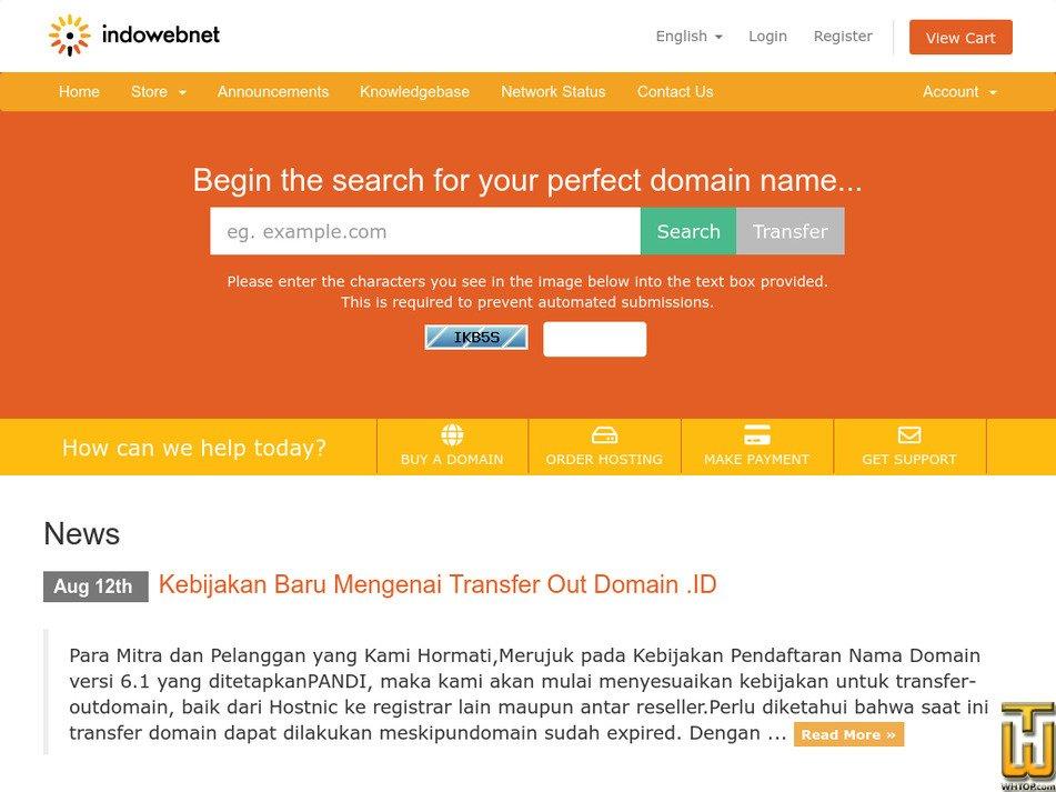 indowebnet.com Screenshot