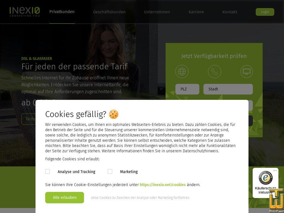 inexio.net Screenshot