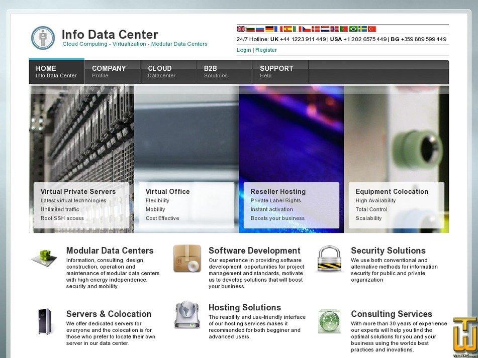infodatacenter.com Screenshot