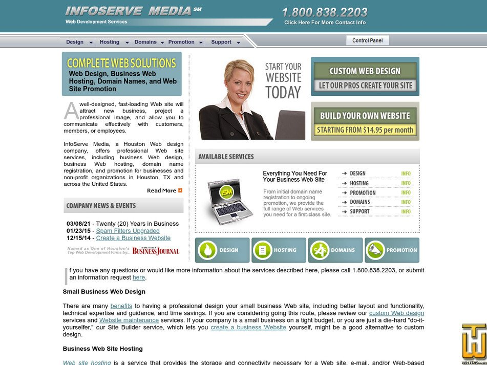 infoservemedia.com Screenshot