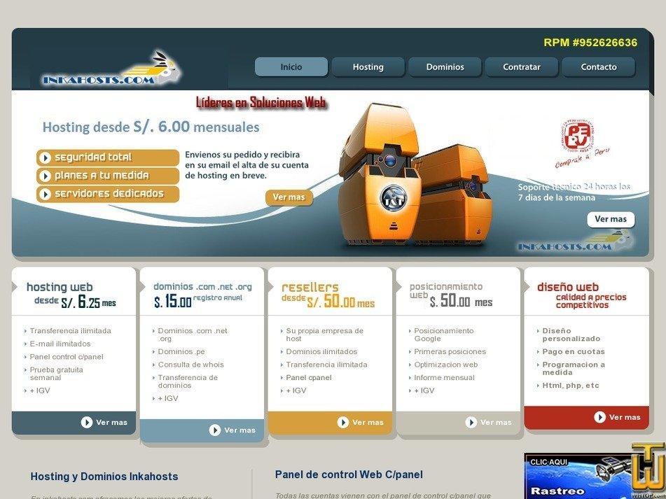 inkahosts.com Screenshot