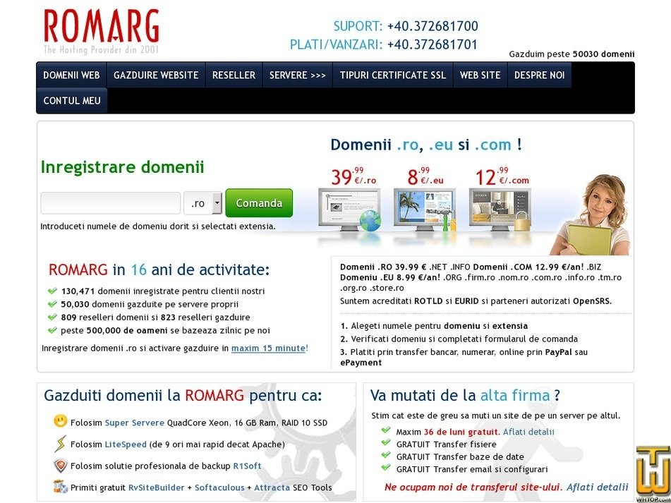 inregistrare-domenii.ro Screenshot