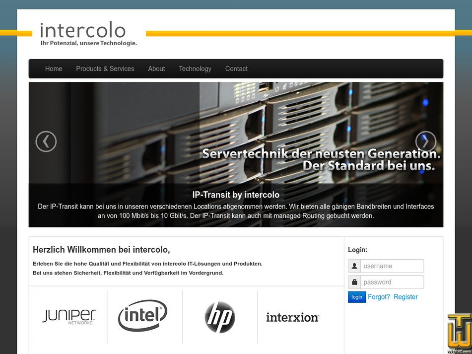 intercolo.de Screenshot