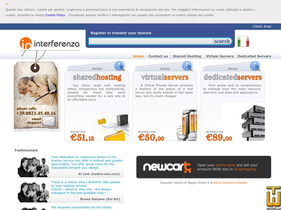interferenza.net Screenshot