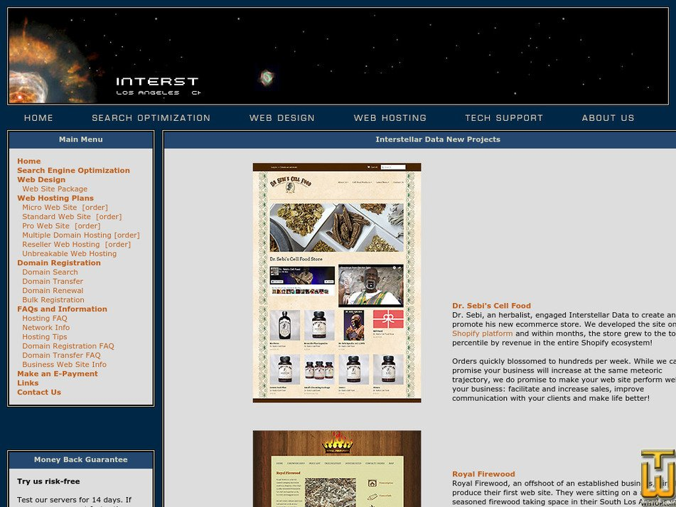 interstellardata.com Screenshot