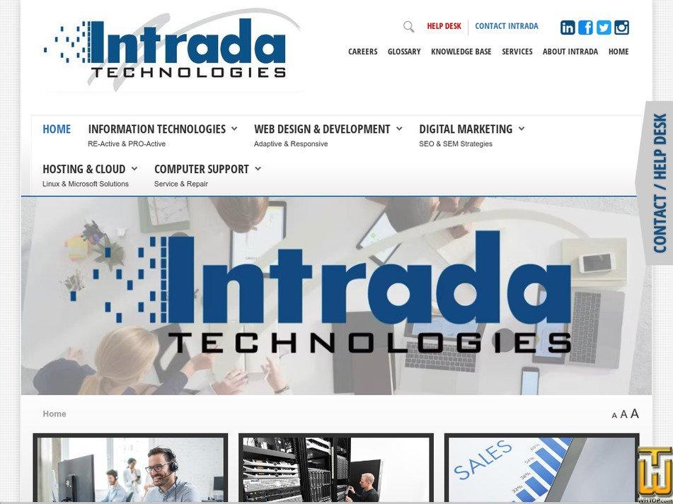 intradatech.com Screenshot
