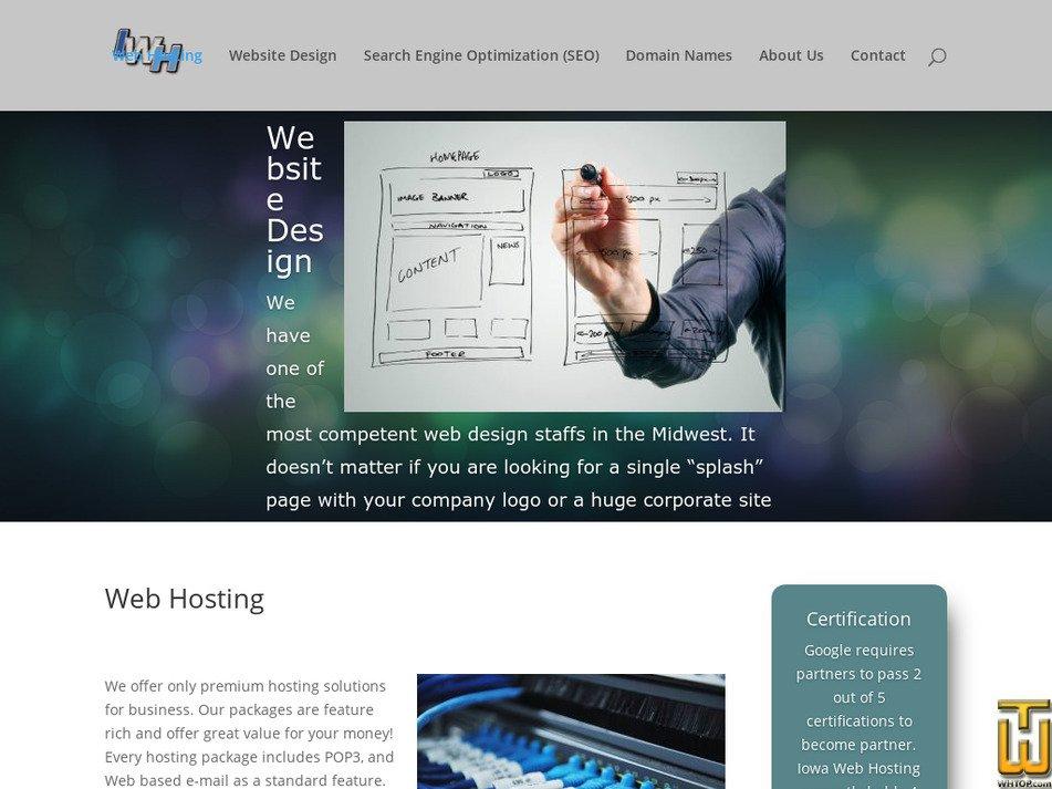 iowawebhosting.com Screenshot