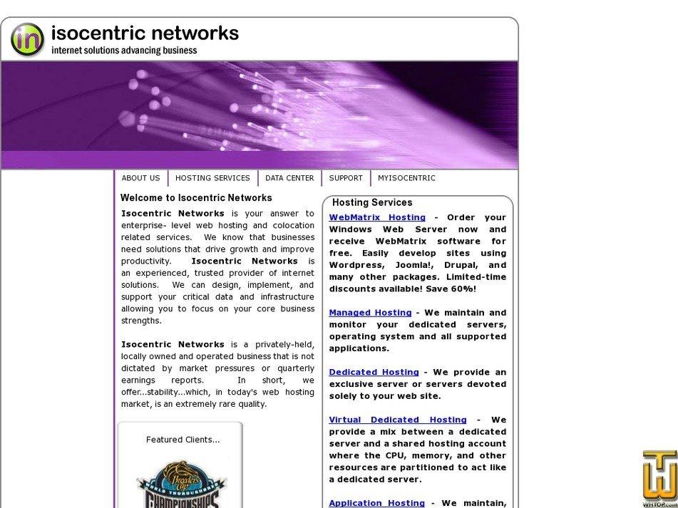 isocentric.com Screenshot