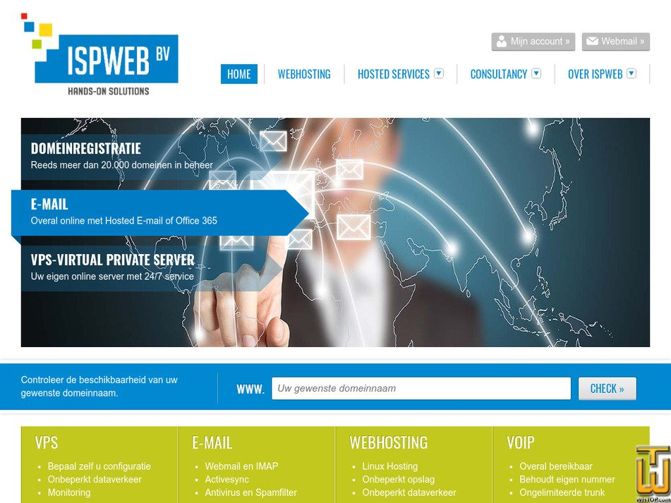 ispweb.nl Screenshot