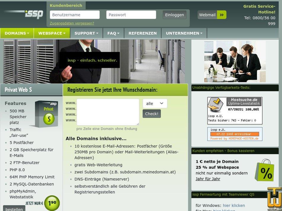 issp.at Screenshot