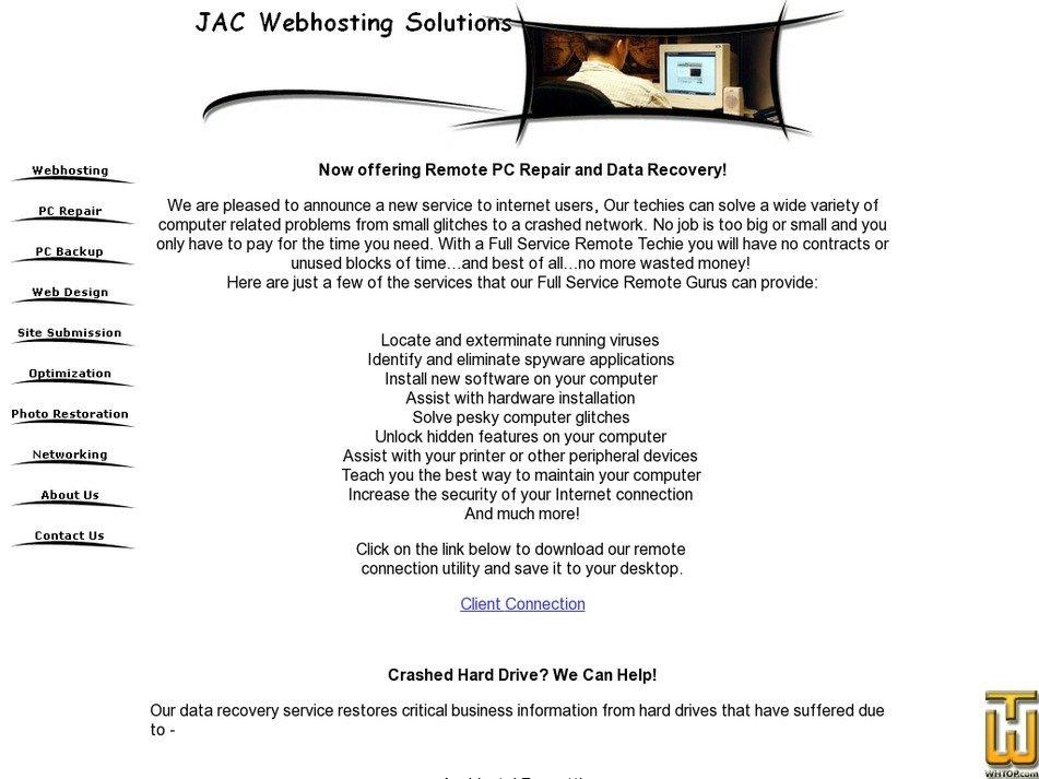 jacwebhostingsolutions.com Screenshot