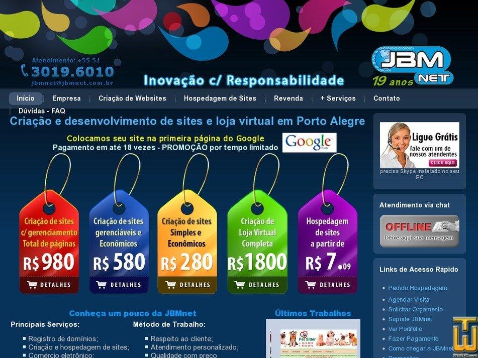 jbmnet.com.br Screenshot