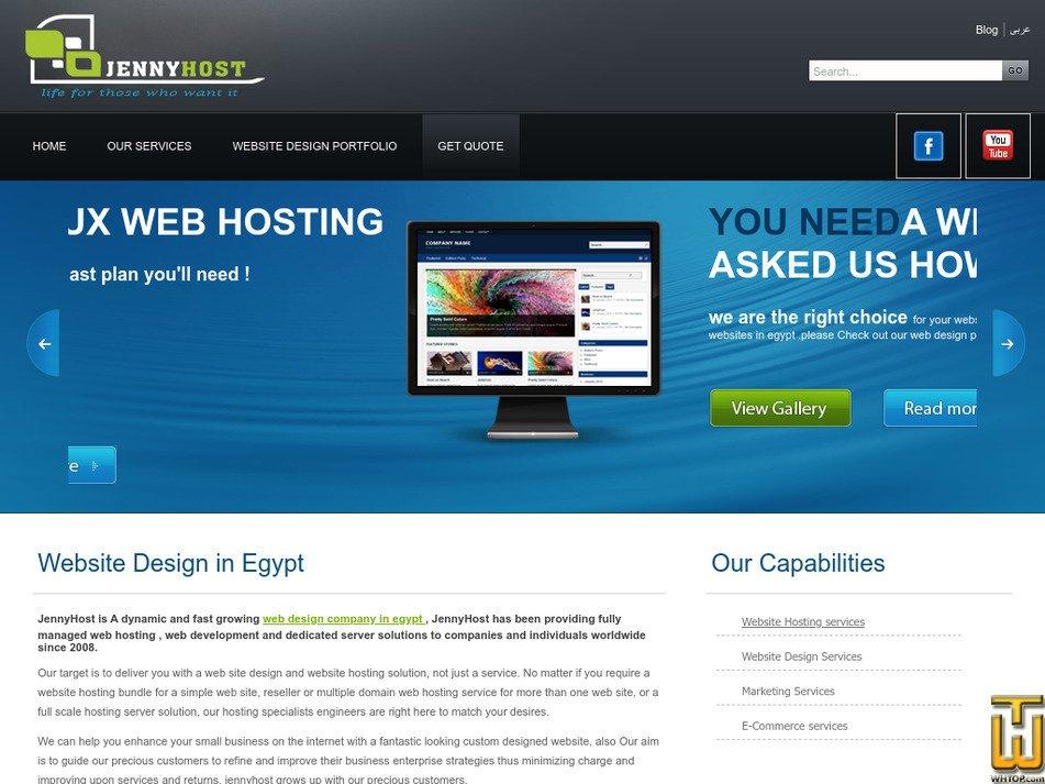jennyhost.com Screenshot