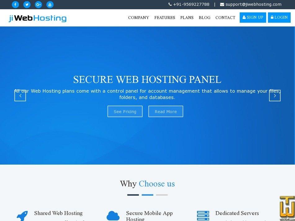 jiwebhosting.com Screenshot