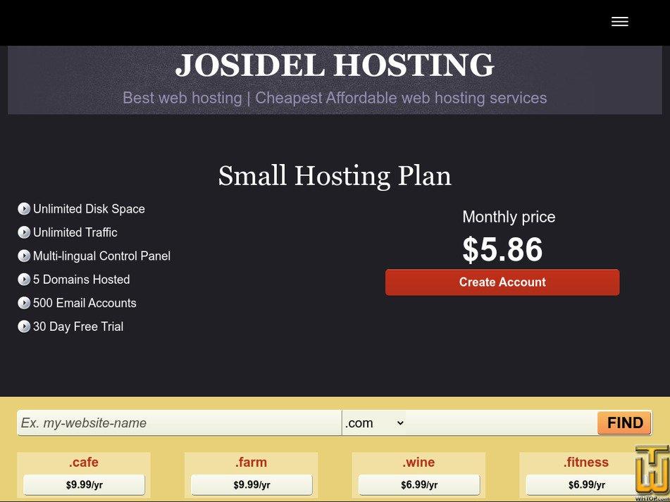 josidelhosting.com Screenshot