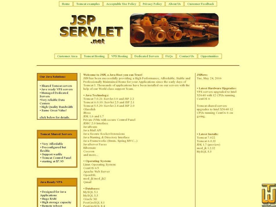 jsp-servlet.net Screenshot