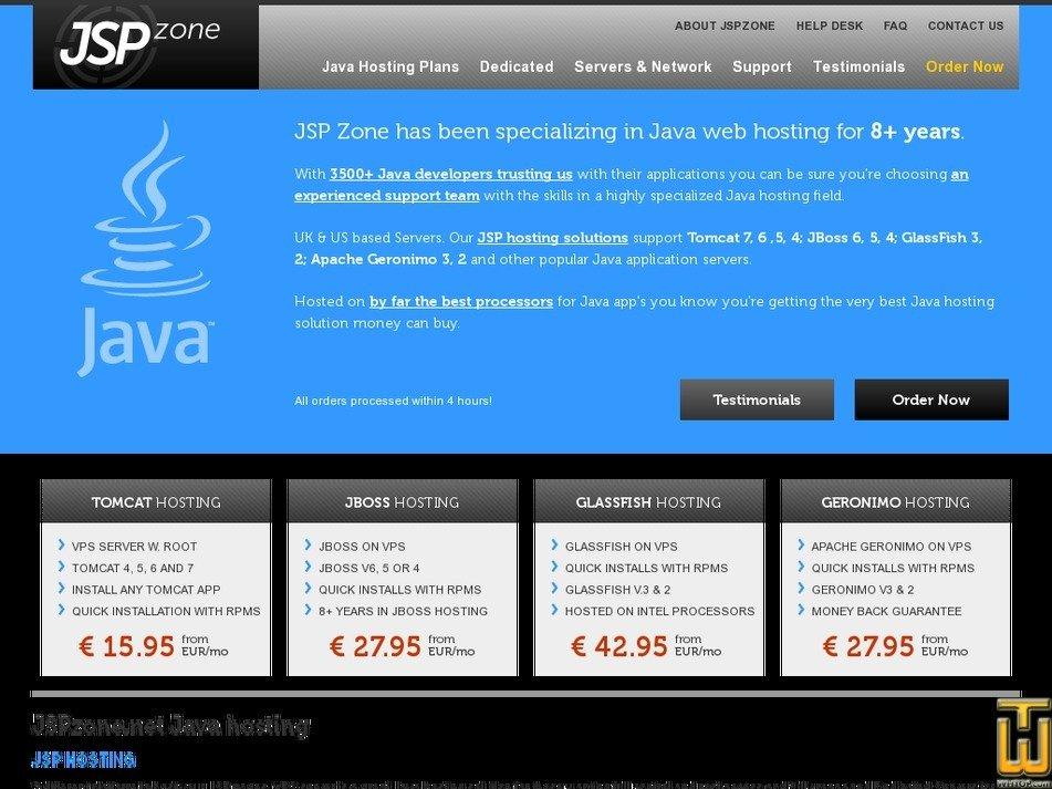 jspzone.net Screenshot