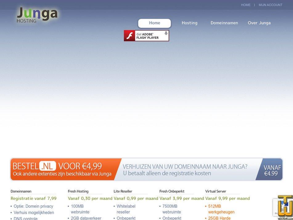 junga.nl Screenshot