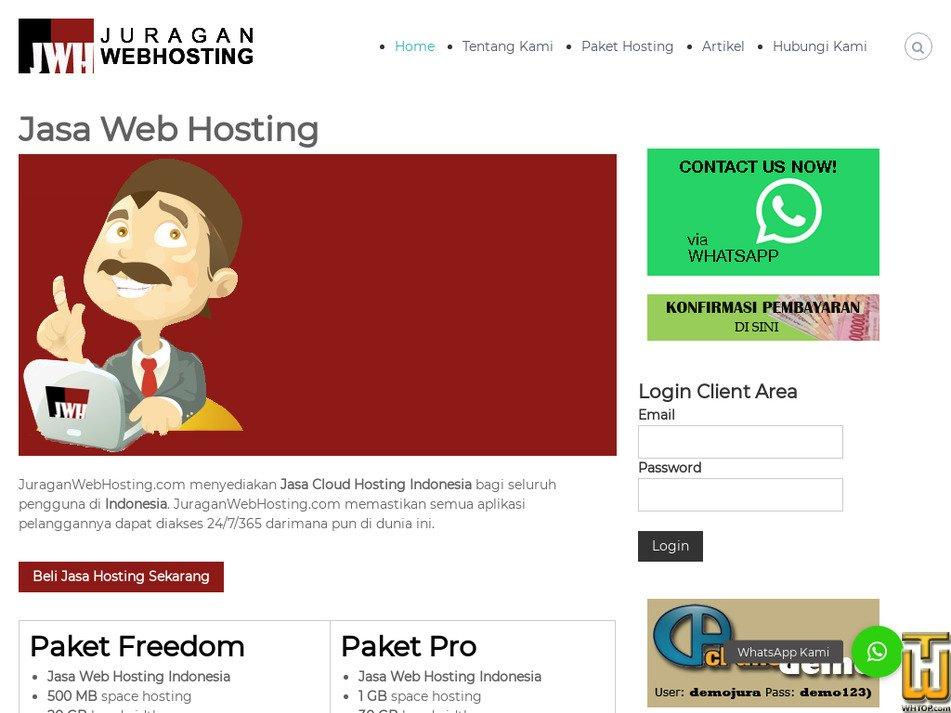juraganwebhosting.com Screenshot