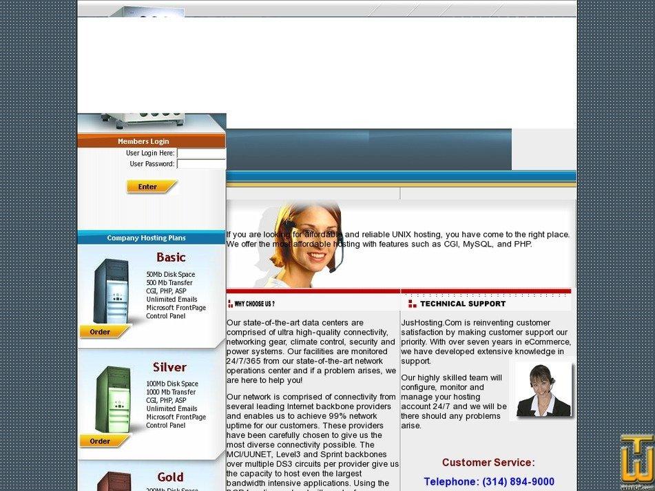 jushosting.com Screenshot