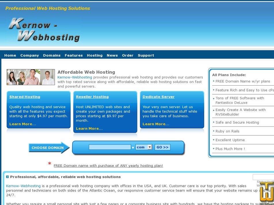 kernow-webhosting.com Screenshot