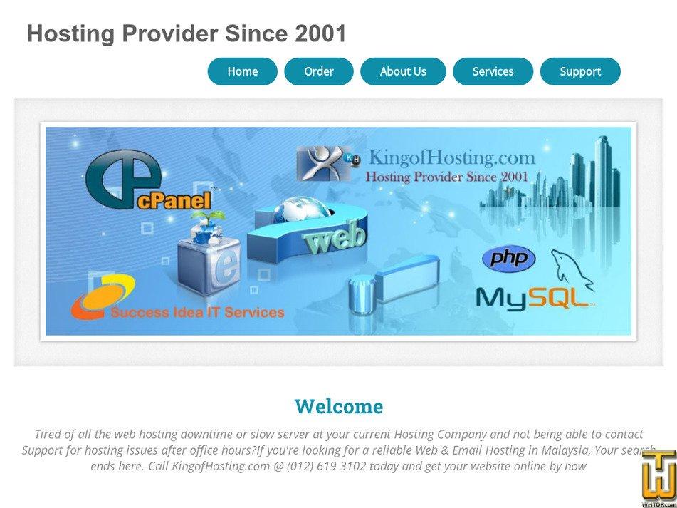 kingofhosting.com Screenshot