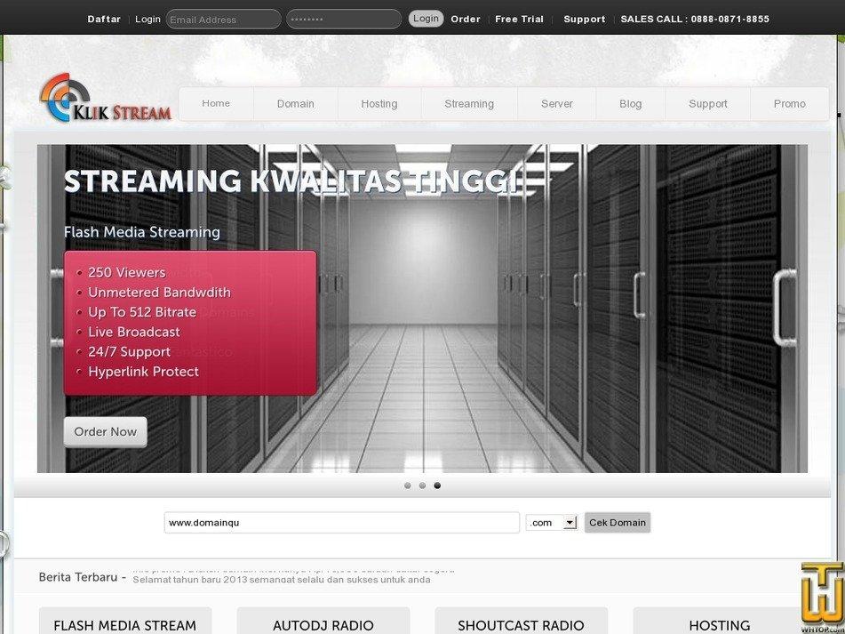 klikstream.net Screenshot