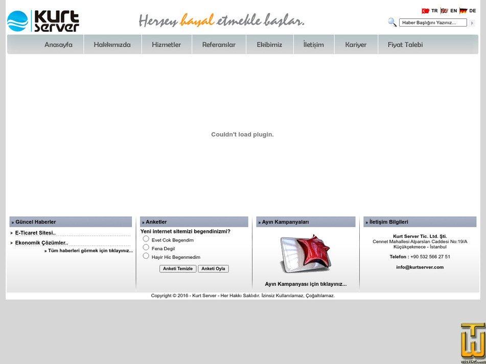 kurtserver.com Screenshot