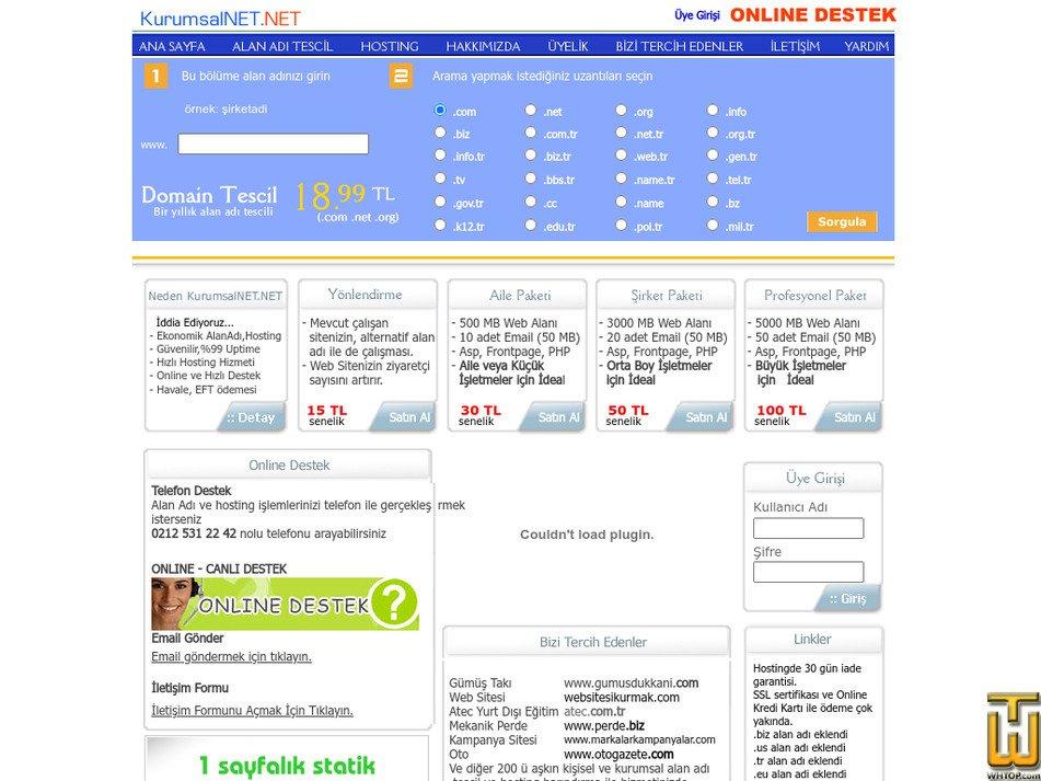 kurumsalnet.net Screenshot