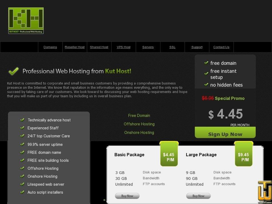 kuthost.com Screenshot