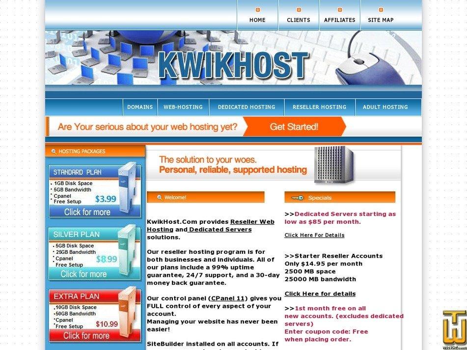 kwikhost.com Screenshot
