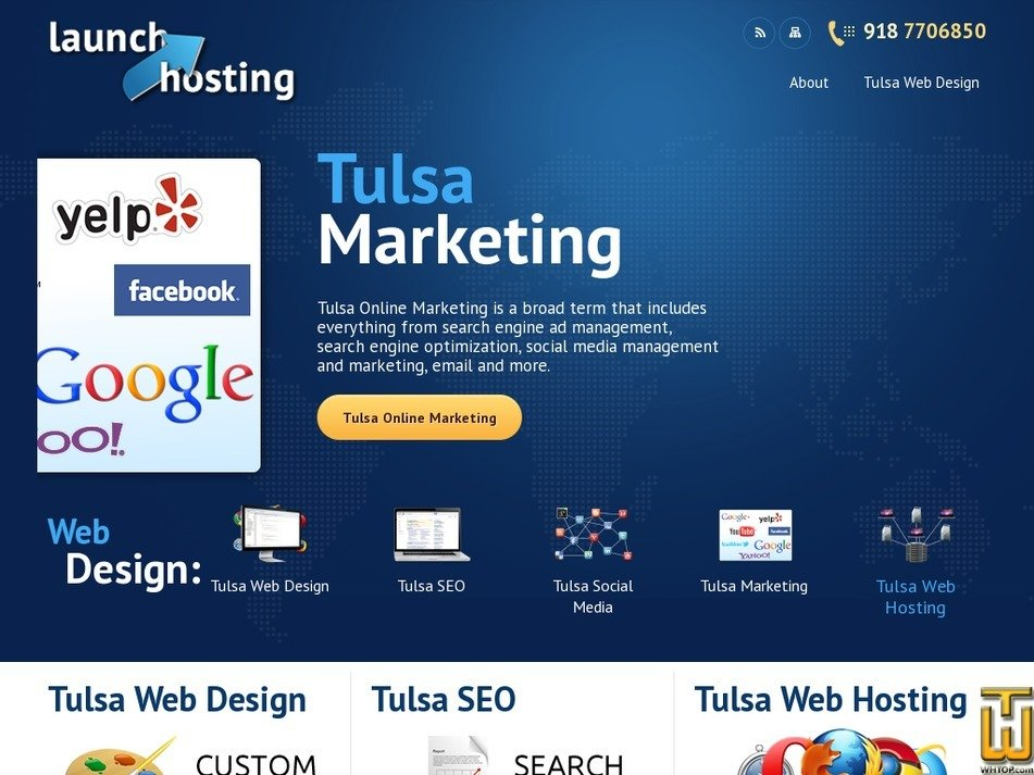 launchhosting.com Screenshot