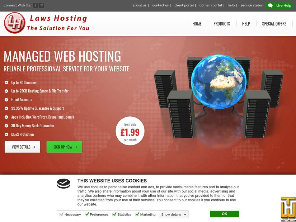 laws-hosting.co.uk Screenshot