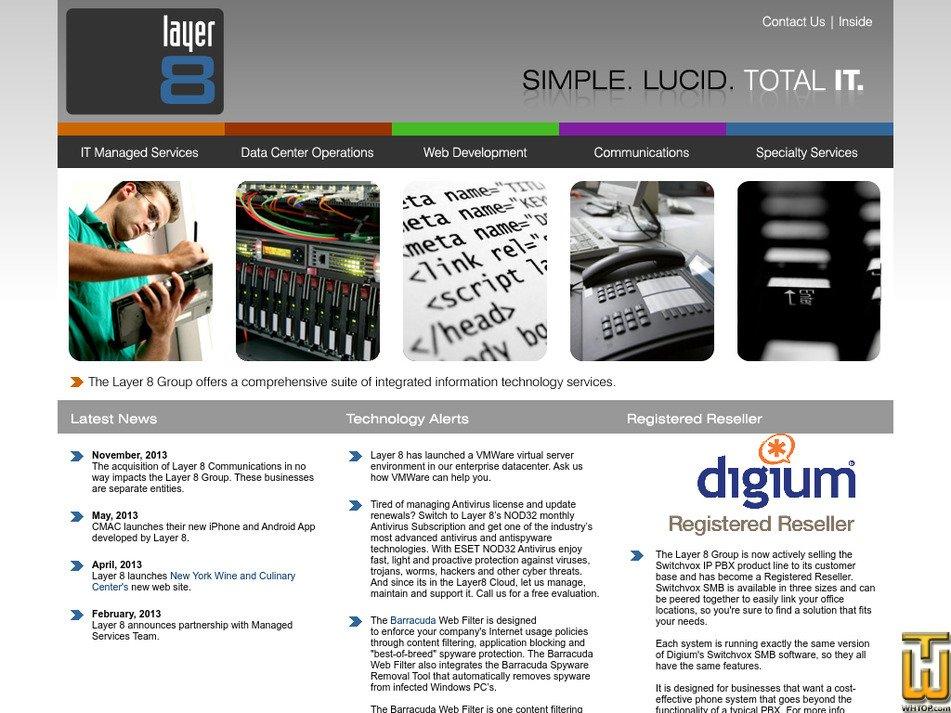 layer8group.com Screenshot