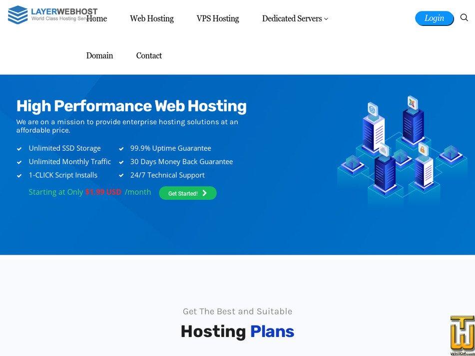 layerwebhost.com Screenshot