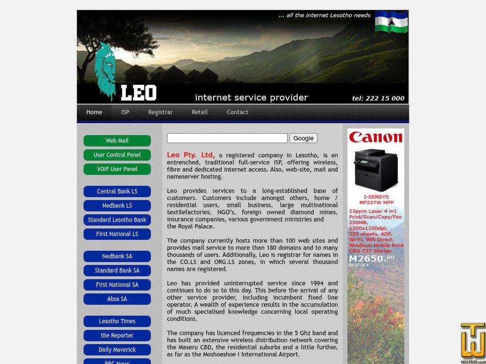 leo.co.ls screenshot