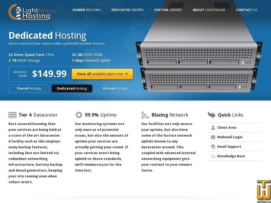 lhhosting.com Screenshot