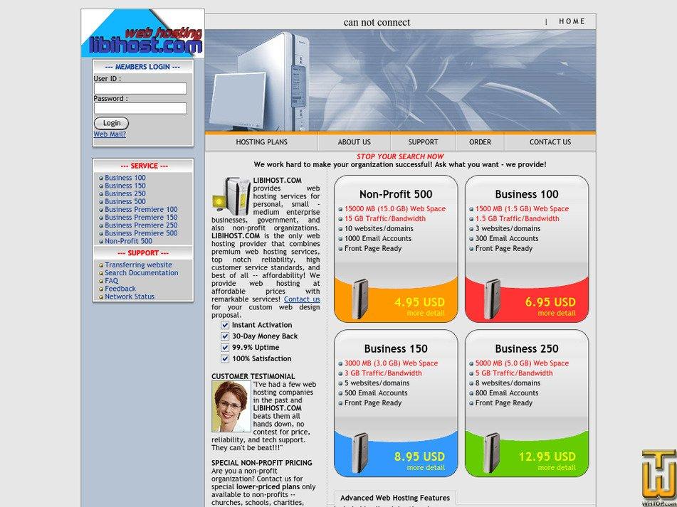 libihost.com Screenshot