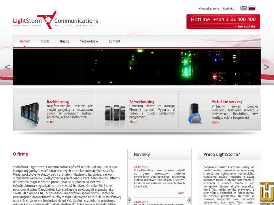 lightstorm.sk Screenshot